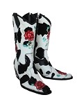 Telluride White Rose Cowboy Boot