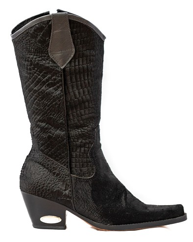 Black Crocodile Cowboy Boot