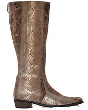 Brown and Silver Python Riding Boot